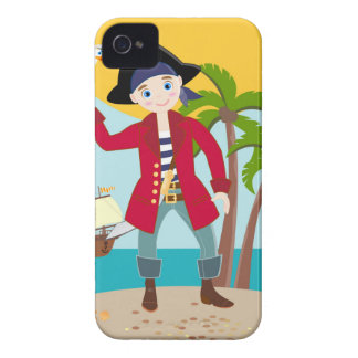 Pirate kid birthday party iPhone 4 case