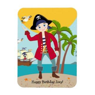 Pirate kid birthday party rectangular photo magnet