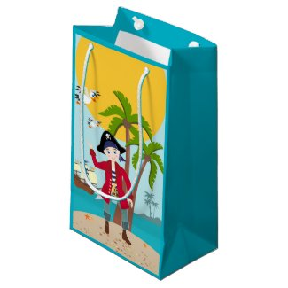 Pirate kid birthday party small gift bag