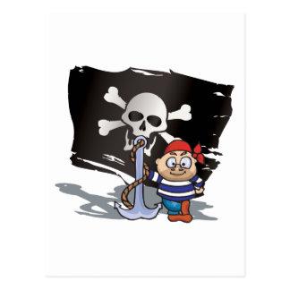 Pirate Kid Post Card