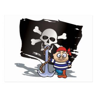 Pirate Kid Postcard