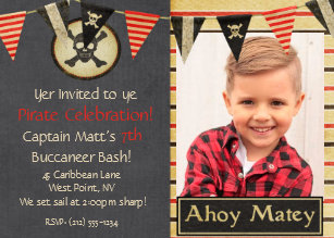 60 off pirate birthday invitations shop now to save zazzle pirate kids birthday party invitation filmwisefo