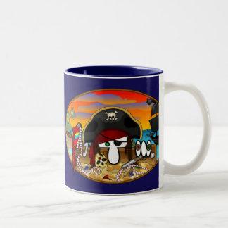 Pirate Kilroy Blue Mug