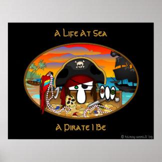 Pirate Kilroy Poster