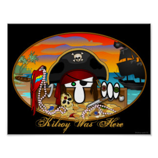 Pirate Kilroy Poster 1