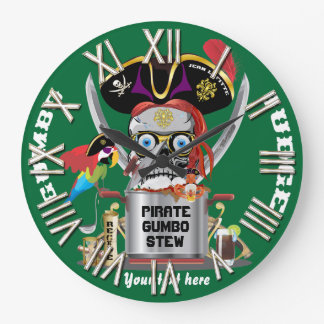 Pirate King of Kings Important View Hints Clock