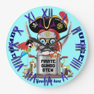 Pirate King of Kings Important View Hints Wall Clocks