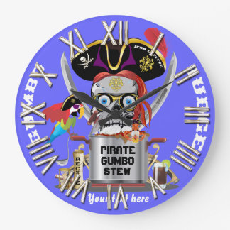 Pirate King of Kings Important View Hints Wallclocks