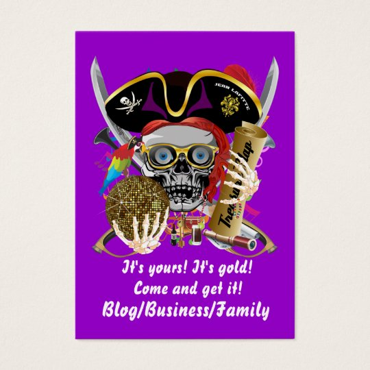 Pirate King of Kings Lafitte Important View Hints Business Card