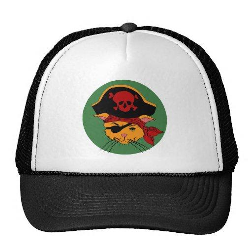 Pirate Kitty Trucker Hats
