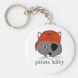 Pirate kitty keychain