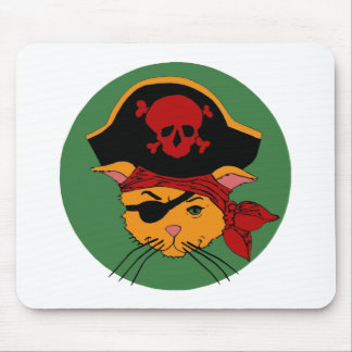 Pirate Kitty Mouse Pads