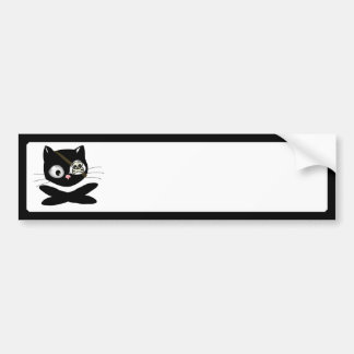 Pirate Kitty with Pink Nose (TLAPD) Car Bumper Sticker