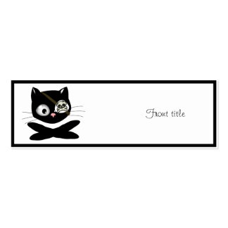 Pirate Kitty with Pink Nose (TLAPD) Business Card