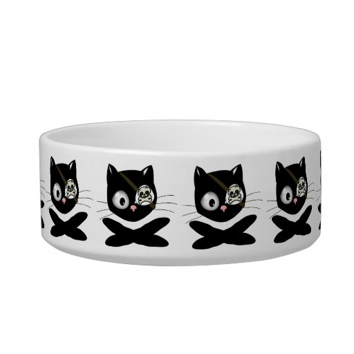 Pirate Kitty with Pink Nose (TLAPD) Cat Bowl