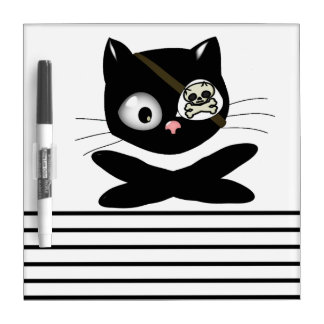 Pirate Kitty with Pink Nose (TLAPD) Dry-Erase Board