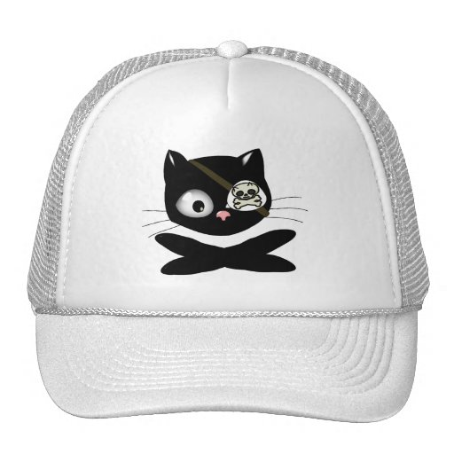 Pirate Kitty with Pink Nose (TLAPD) Mesh Hats
