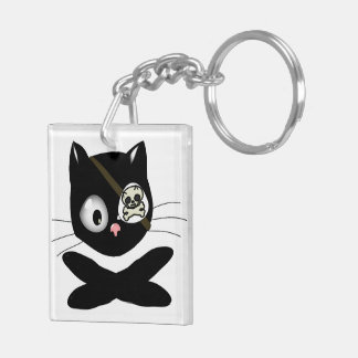 Pirate Kitty with Pink Nose (TLAPD) Keychain