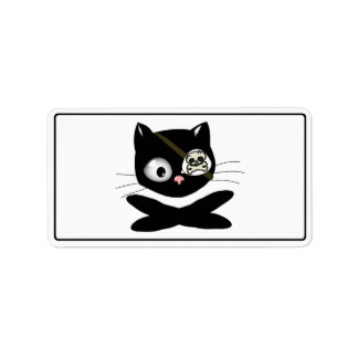 Pirate Kitty with Pink Nose (TLAPD) Personalized Address Labels