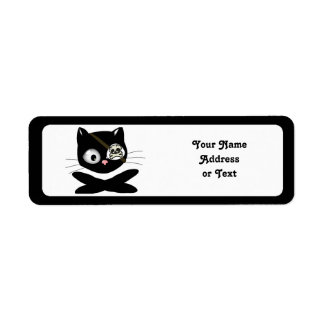 Pirate Kitty with Pink Nose (TLAPD) Custom Return Address Labels