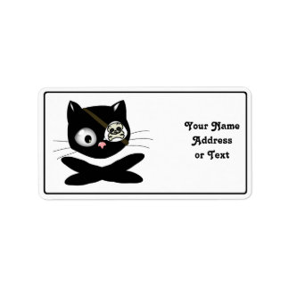 Pirate Kitty with Pink Nose (TLAPD) Custom Address Label