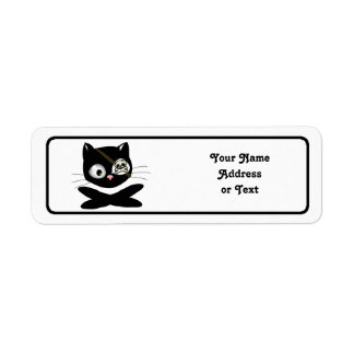 Pirate Kitty with Pink Nose (TLAPD) Return Address Labels