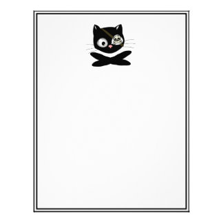 Pirate Kitty with Pink Nose (TLAPD) Letterhead Template