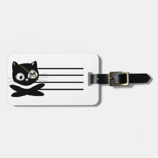 Pirate Kitty with Pink Nose (TLAPD) Tag For Luggage