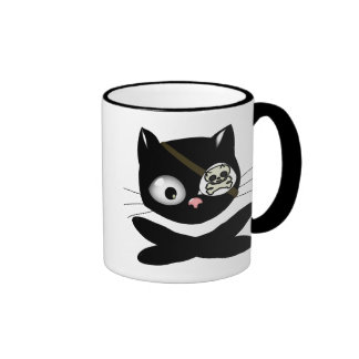 Pirate Kitty with Pink Nose (TLAPD) Mugs