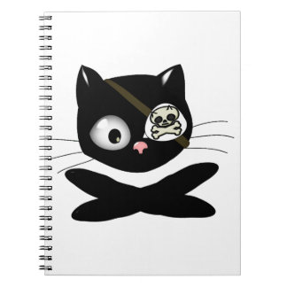 Pirate Kitty with Pink Nose (TLAPD) Note Book