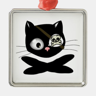 Pirate Kitty with Pink Nose (TLAPD) Christmas Tree Ornaments