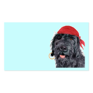 Pirate Labradoodle Business Cards
