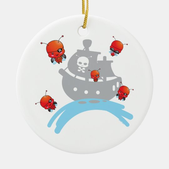 Pirate Ladybugs Ornament