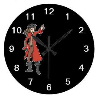 Pirate. Large Clock