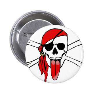 Pirate Laurent Drapeau 2 Inch Round Button