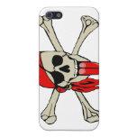 Pirate Laurent Drapeau Bone teeth RED TONGUE Trans Case For iPhone 5