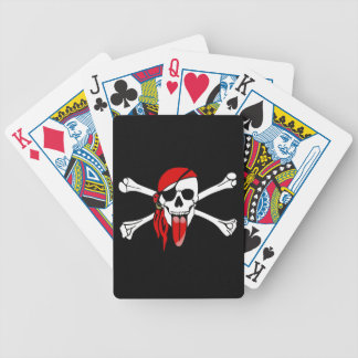 Pirate Laurent Drapeau with a long RED TONGUE Bicycle Playing Cards
