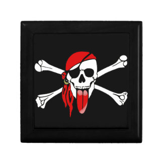 Pirate Laurent Drapeau with a long RED TONGUE Jewelry Box