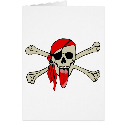 Pirate Laurent Drapeau with extra long tongue Card