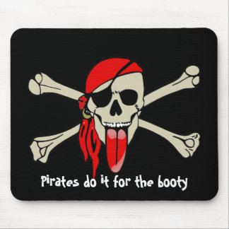 Pirate Laurent Drapeau with extra long tongue Mouse Pad