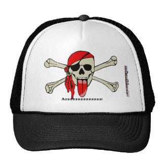 Pirate Laurent Drapeau with extra long tongue Trucker Hat