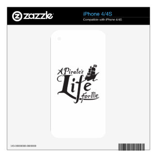 Pirate Life For Me iPhone 4 Decals