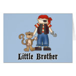 Pirate Little Brother Greeting Card
