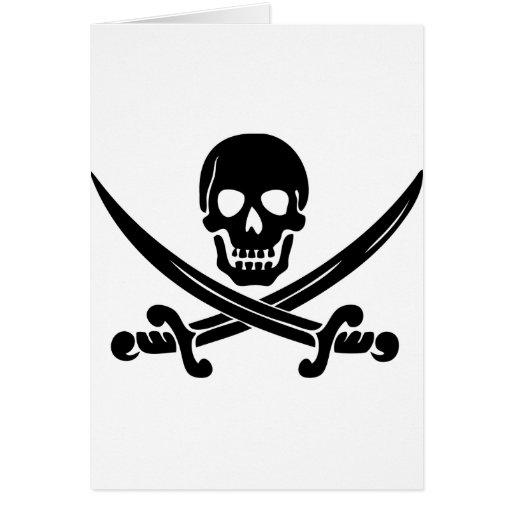 Pirate Logo Card