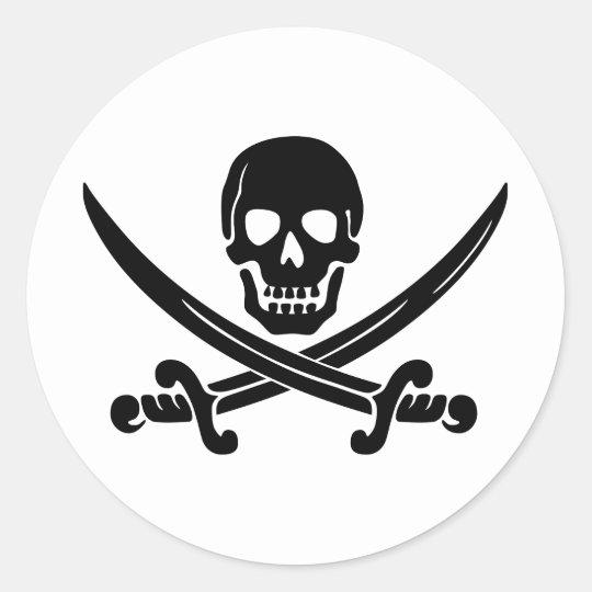 _pirate_logo classic round sticker