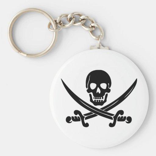 Pirate Logo Key Chain