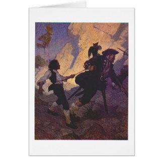 Pirate Long John Silver Card