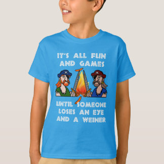 Pirate Loses A Weiner And An Eye Funny Camping T-Shirt