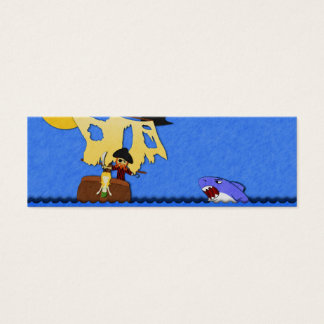 Pirate Lost at Sea Bookmarks Mini Business Card