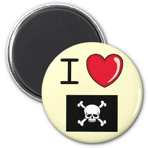 Pirate Love 2 Inch Round Magnet